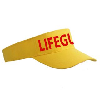 YELLOW LIFEGUARD SUN VISOR